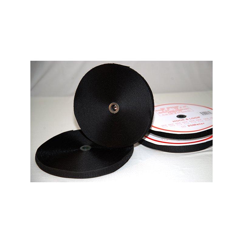 klettband 25m mit haken und flausch schwarz und wei. Black Bedroom Furniture Sets. Home Design Ideas